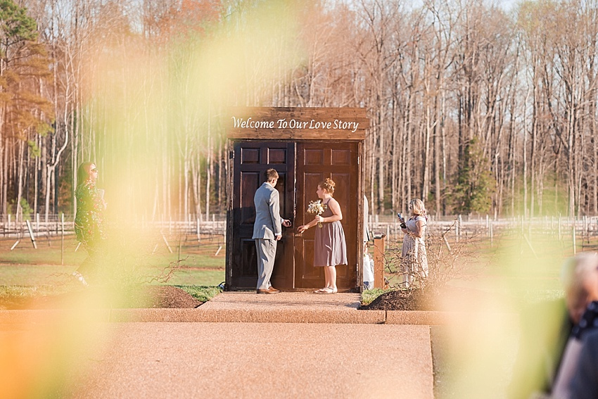 New Kent Winery Wedding, Ceremony