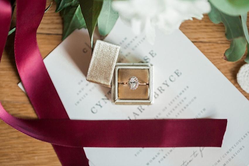 engagement ring, mrs box, vintage, velvet, ring box