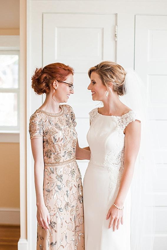 bride, bridesmaid, maid of honor, sisters, best friends