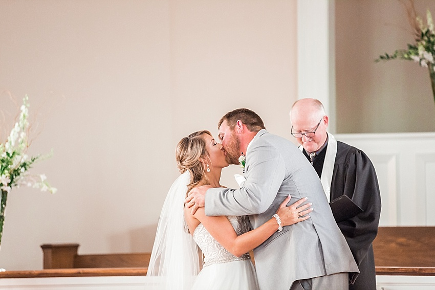 Bride, Groom, First Kiss, Wedding Ceremony