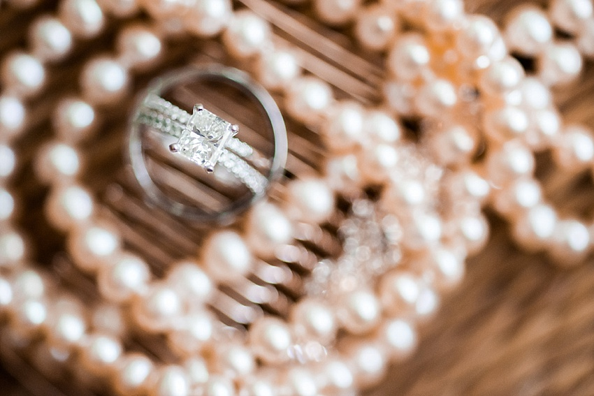 Engagement Ring, Wedding Bands, Pearls