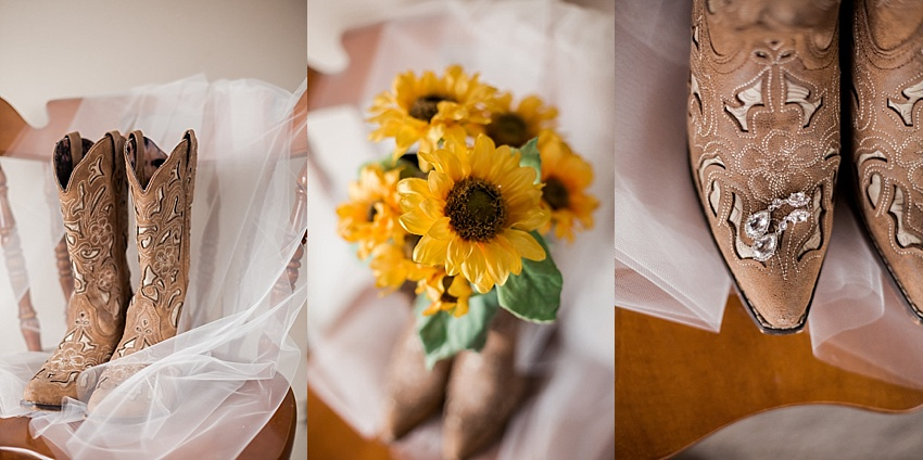 Bridal Details, Cowgirl Boots, Bride, Sunflower